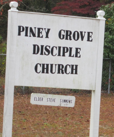 Piney Grove sign